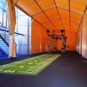 Telts - angārs sporta trenažieru zāle