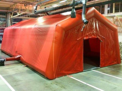 Piepūšamā telts glābšanas darbiem